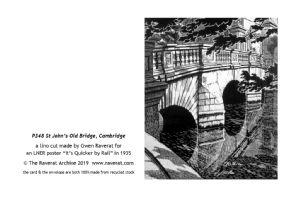 St John's Old Bridge greetings card
